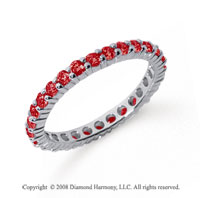 3/4 Carat Ruby Platinum Round Eternity Band