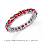 1 1/2 Carat Ruby Platinum Round Eternity Band