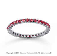 1/2 Carat Ruby 14k White Gold Round Eternity Band