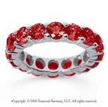 5 Carat Ruby 18k White Gold Round Eternity Band
