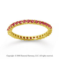 1/2 Carat Ruby 14k Yellow Gold Round Eternity Band