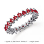 1 1/2 Carat Ruby Platinum Round Open Prong Eternity Band