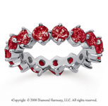 4 Carat Ruby 14k White Gold Round Open Prong Eternity Band