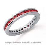 3/4 Carat Ruby Platinum Channel Eternity Band