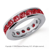 3 1/2 Carat Ruby Platinum Channel Eternity Band