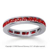 1/2 Carat Ruby 14k White Gold Channel Eternity Band
