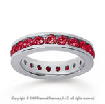 1 1/2 Carat Ruby 14k White Gold Channel Eternity Band