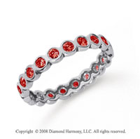 1/2 Carat Ruby Platinum Round Bezel Eternity Band