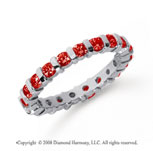 1 Carat  Ruby Platinum Eternity Round Bar Band