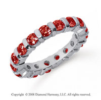 2 Carat  Ruby Platinum Eternity Round Bar Band