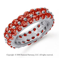4 1/2 Carat Ruby Platinum Double Row Eternity Band