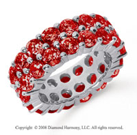 8 1/2 Carat Ruby Platinum Double Row Eternity Band