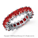 4 3/4 Carat Ruby Platinum Princess Eternity Band