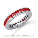 1 Carat Ruby Platinum Princess Channel Eternity Band