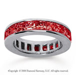 4 3/4 Carat Ruby 14k White Gold Princess Channel Eternity Band