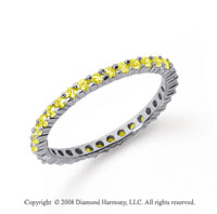1/2 Carat Yellow Sapphire Platinum Round Eternity Band