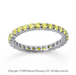 3/4 Carat Yellow Sapphire 18k White Gold Round Eternity Band