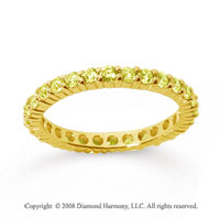 3/4 Carat Yellow Sapphire 14k Yellow Gold Round Eternity Band