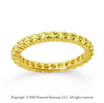 1 Carat Yellow Sapphire 14k Yellow Gold Round Eternity Band