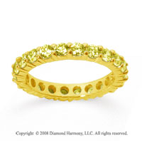2 Carat Yellow Sapphire 14k Yellow Gold Round Eternity Band