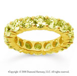 5 Carat Yellow Sapphire 14k Yellow Gold Round Eternity Band
