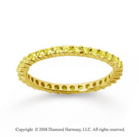 1/2 Carat Yellow Sapphire 18k Yellow Gold Round Eternity Band