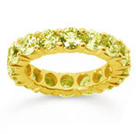 5 Carat Yellow Sapphire 18k Yellow Gold Round Eternity Band