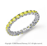 3/4 Carat Yellow Sapphire Platinum Four Prong Eternity Band