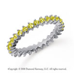 1 Carat Yellow Sapphire Platinum Round Open Prong Eternity Band