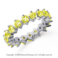 2 1/2Carat Yellow Sapphire Platinum Open Prong Eternity Band
