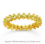 1 1/2Carat Yellow Sapphire 18k Yellow Gold Round Open Prong Eternity Band