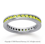 3/4 Carat Yellow Sapphire 14k White Gold Channel Eternity Band
