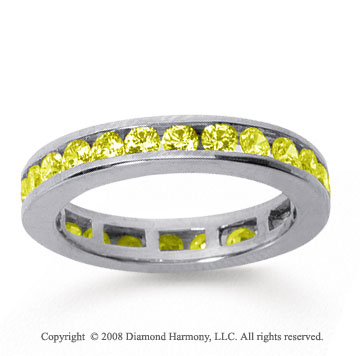 1/2 Carat Yellow Sapphire 18k White Gold Channel Eternity Band