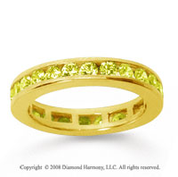 1/2 Carat Yellow Sapphire 14k Yellow Gold Channel Eternity Band