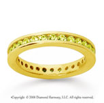 3/4 Carat Yellow Sapphire 14k Yellow Gold Channel Eternity Band