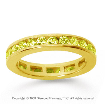 1/2 Carat Yellow Sapphire 18k Yellow Gold Channel Eternity Band