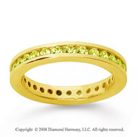 3/4 Carat Yellow Sapphire 18k Yellow Gold Channel Eternity Band