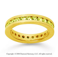 1 Carat Yellow Sapphire 18k Yellow Gold Channel Eternity Band