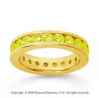 1 1/2 Carat Yellow Sapphire 18k Yellow Gold Channel Eternity Band