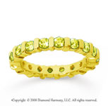 1 1/2 Carat Yellow Sapphire 18k Yellow Gold Eternity Round Bar Band