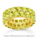 8 1/2 Carat Yellow Sapphire 14k Yellow Gold Double Row Eternity Band