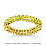 1 1/4 Carat Yellow Sapphire 14k Yellow Gold Princess Eternity Band