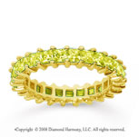 2 1/2 Carat Yellow Sapphire 14k Yellow Gold Princess Eternity Band