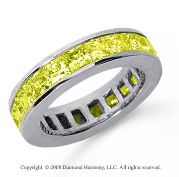 4 3/4 Carat Yellow Sapphire Plat Princess Channel Eternity Band