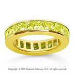 2 1/2 Carat Yellow Sapphire 18k Yellow Gold Princess Channel Eternity Band