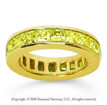 4 3/4 Carat Yellow Sapphire 18k Yellow Gold Princess Channel Eternity Band