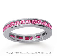 1/2 Carat Pink Sapphire 14k White Gold Channel Eternity Band