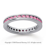 3/4 Carat Pink Sapphire 18k White Gold Channel Eternity Band