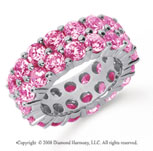 8 1/2 Carat Pink Sapphire Platinum Double Row Eternity Band