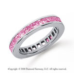 1 Carat Pink Sapphire Platinum Princess Channel Eternity Band